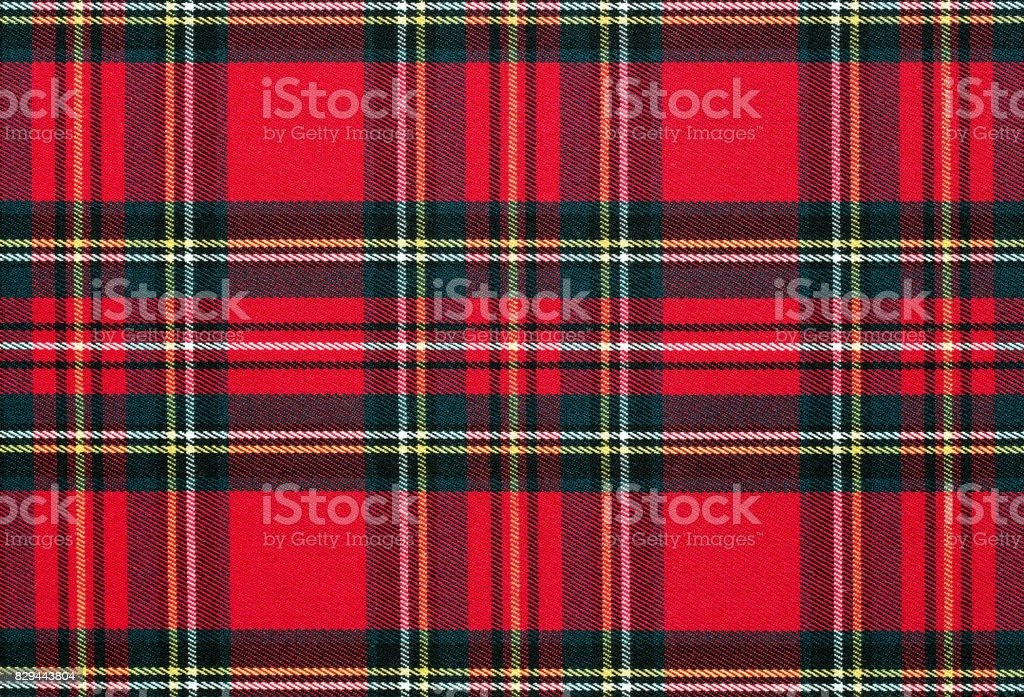 Checkered fabric background, texture stock photo
