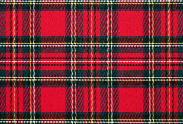 Checkered fabric background, texture Close up of red, checkered textile background, texture with copy space plaid stock pictures, royalty-free photos & images