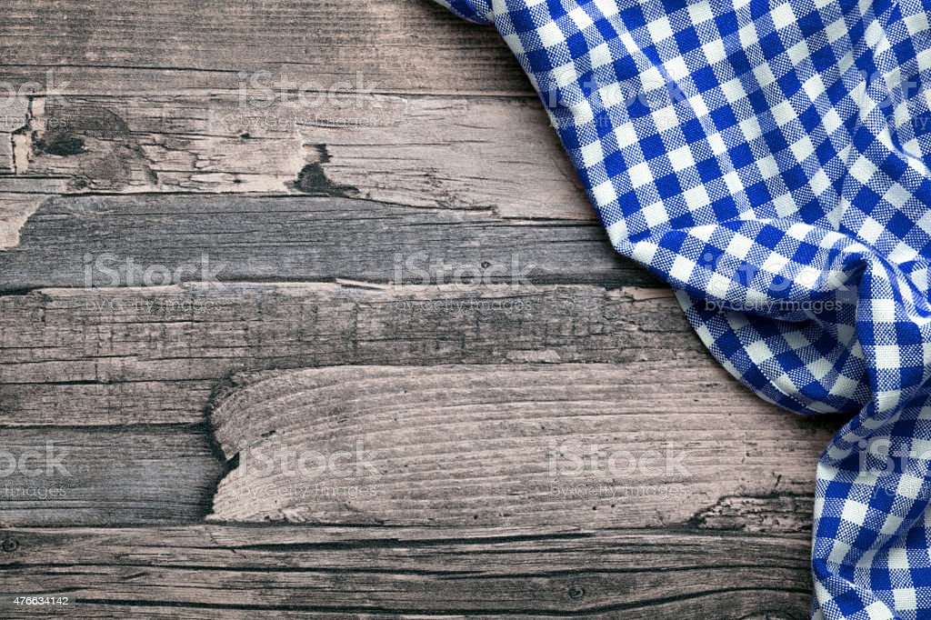 checkered fabric blue stock photo