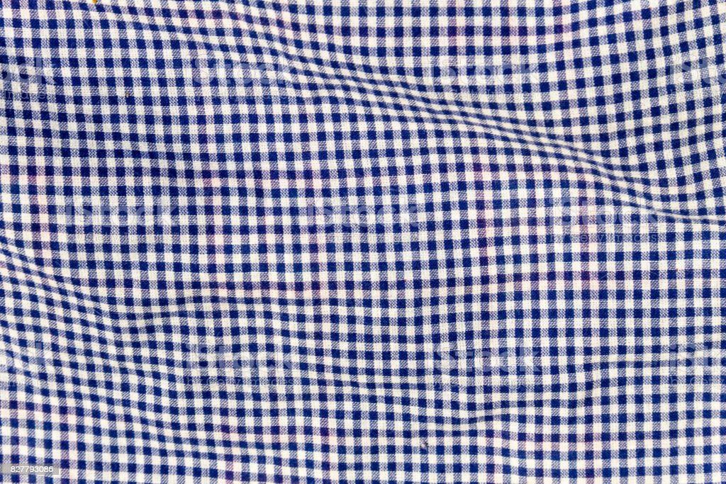 Checkered fabric texture. Cloth background stock photo