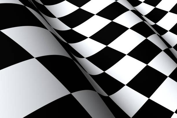 Checkered Flag Macro stock photo