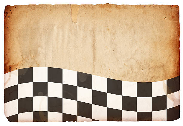 checkered flag paper xxxl - daytona 500 stock photos and pictures