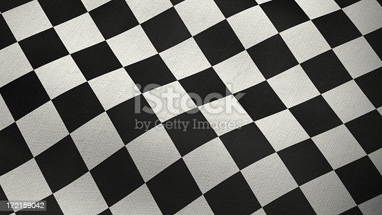 istock 3D checkered flag 172159042
