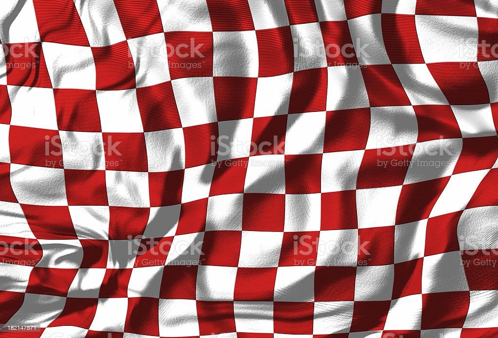 Checkered Flag (Red/White) stock photo