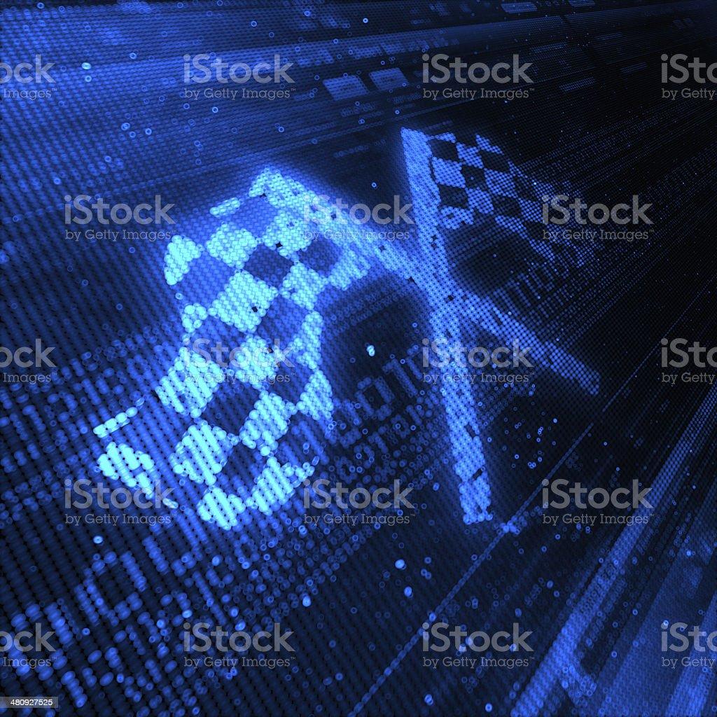 Checkered Flag royalty-free stock photo