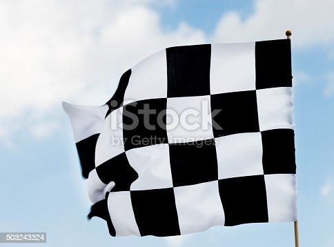 istock Checkered flag 503243324