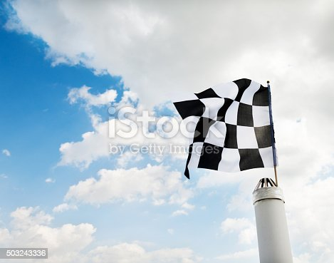 istock Checkered flag 503243336