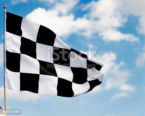 istock Checkered flag 503243362