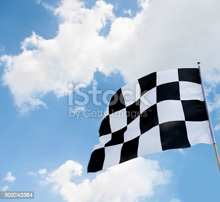 istock Checkered flag 503243384