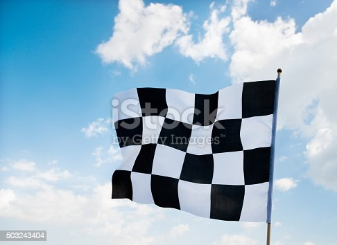 istock Checkered flag 503243404