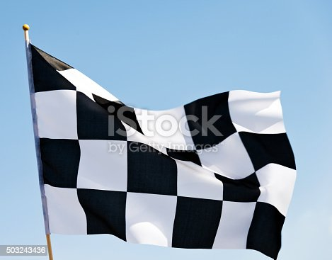istock Checkered flag 503243436