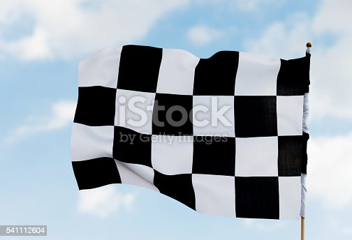 istock Checkered flag 541112604