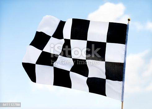 istock Checkered flag 541112788