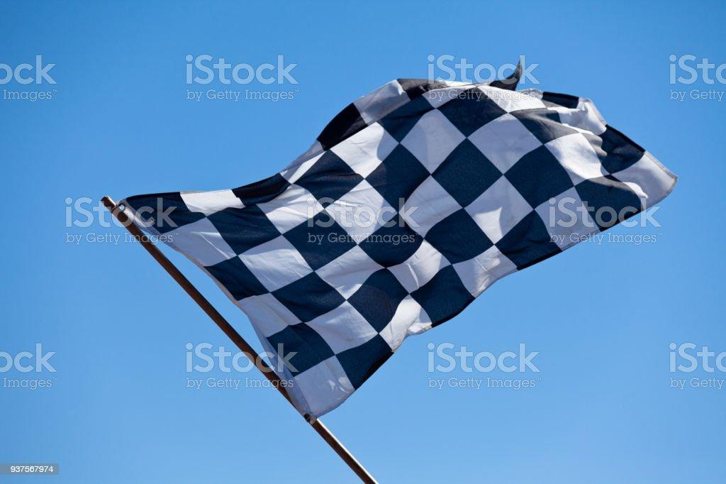 Bandera de cuadros - foto de stock
