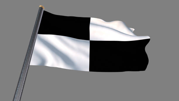 checkered flag weaving. clipping path included so you can put your own background. - daytona 500 stock photos and pictures