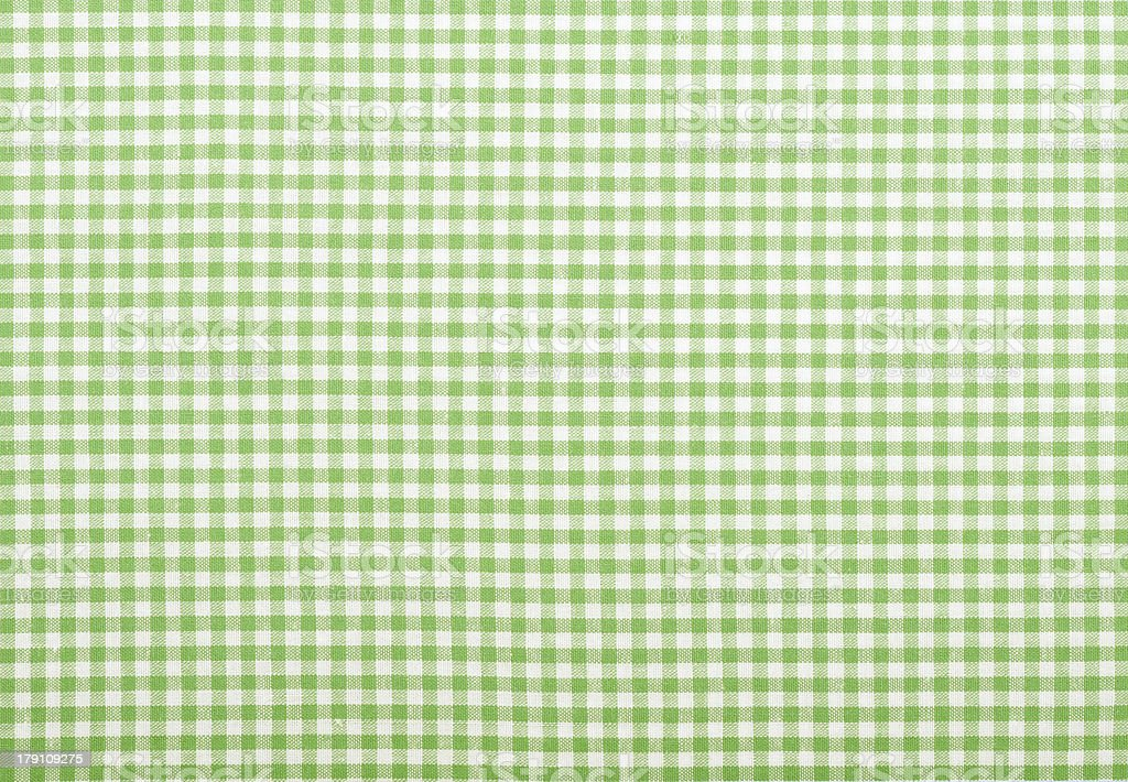 Checkered green fabric stock photo