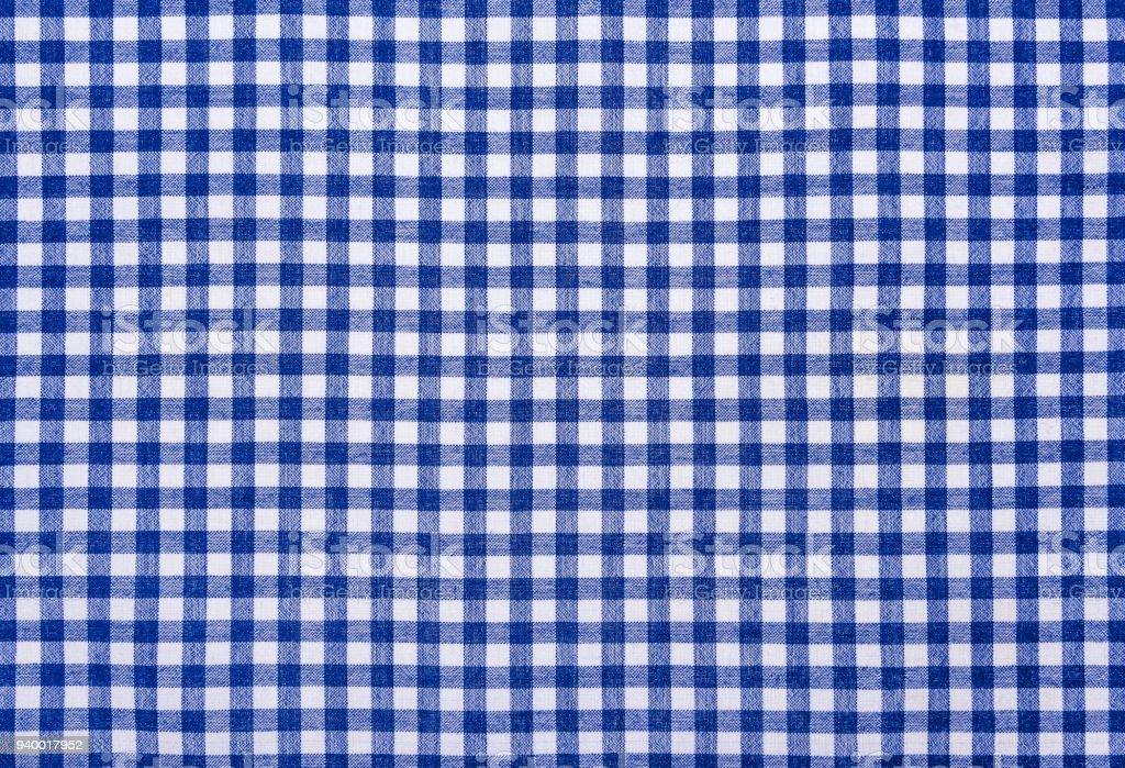 Checkered kitchen cloth. stock photo