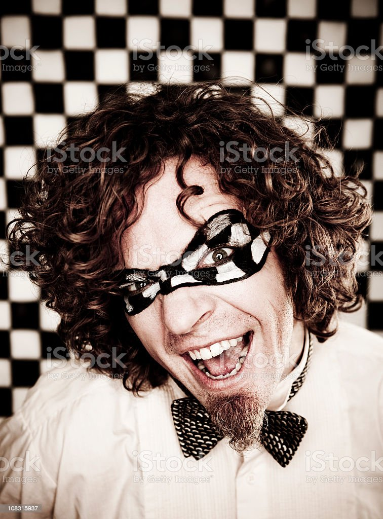 Checkered Man Series: Happy Face royalty-free stock photo