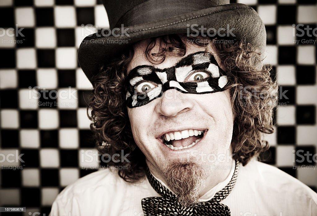 Checkered Man Series: Happy royalty-free stock photo