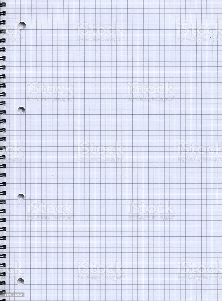 checkered notebook royalty-free stock photo