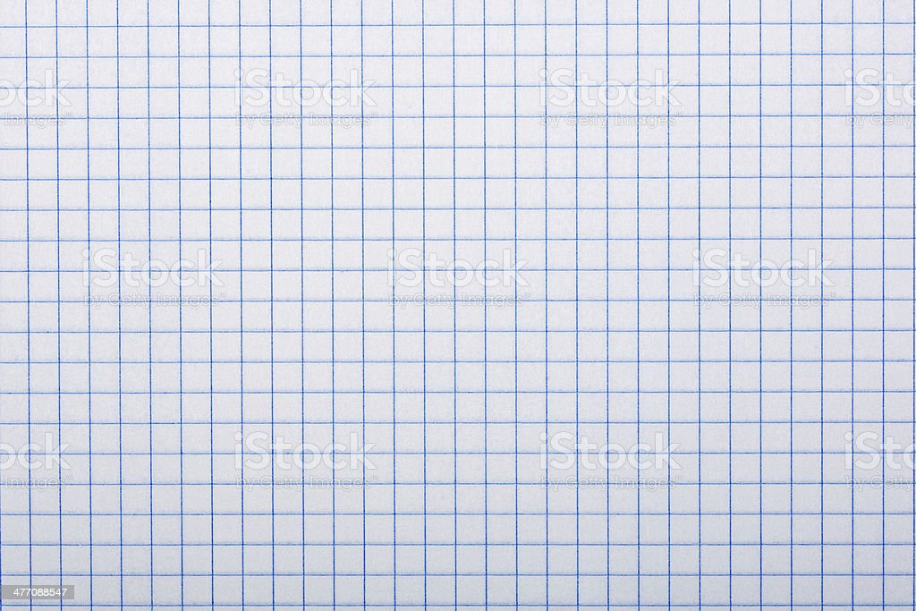 Checkered paper, background stock photo