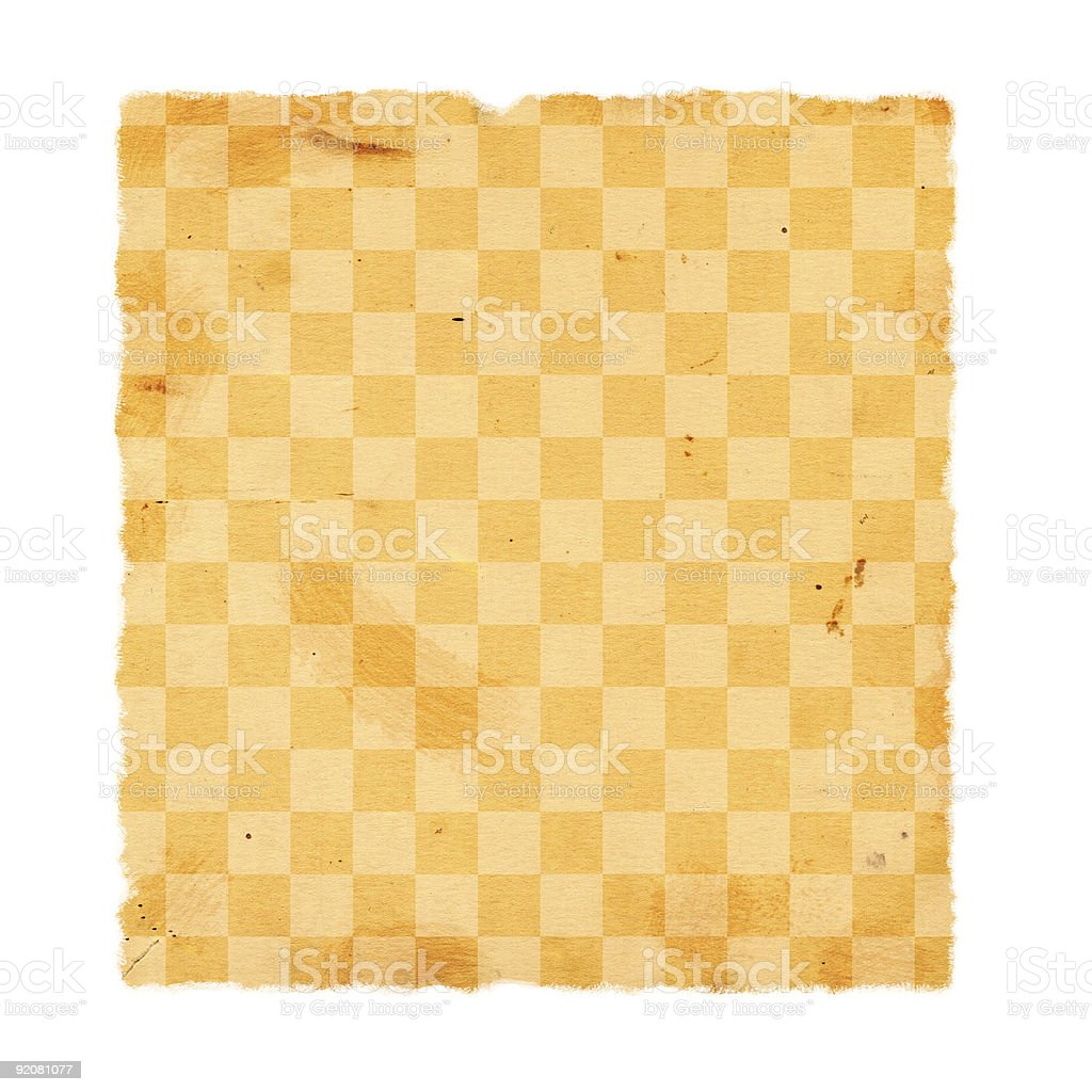 Checkered Paper royalty-free stock photo