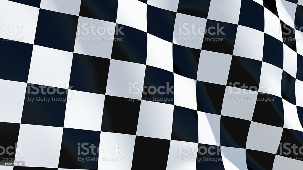 Checkered Racing Flag Background royalty-free stock photo