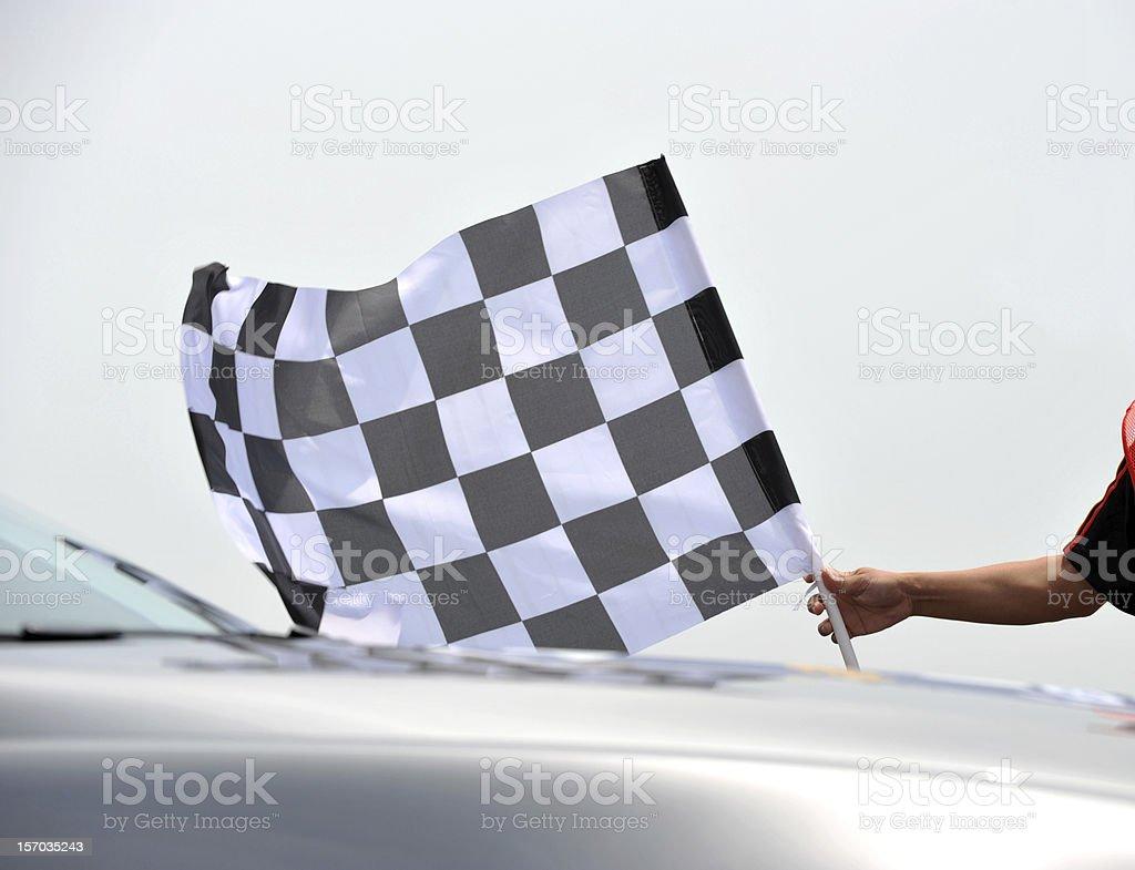 checkered racing flag stock photo