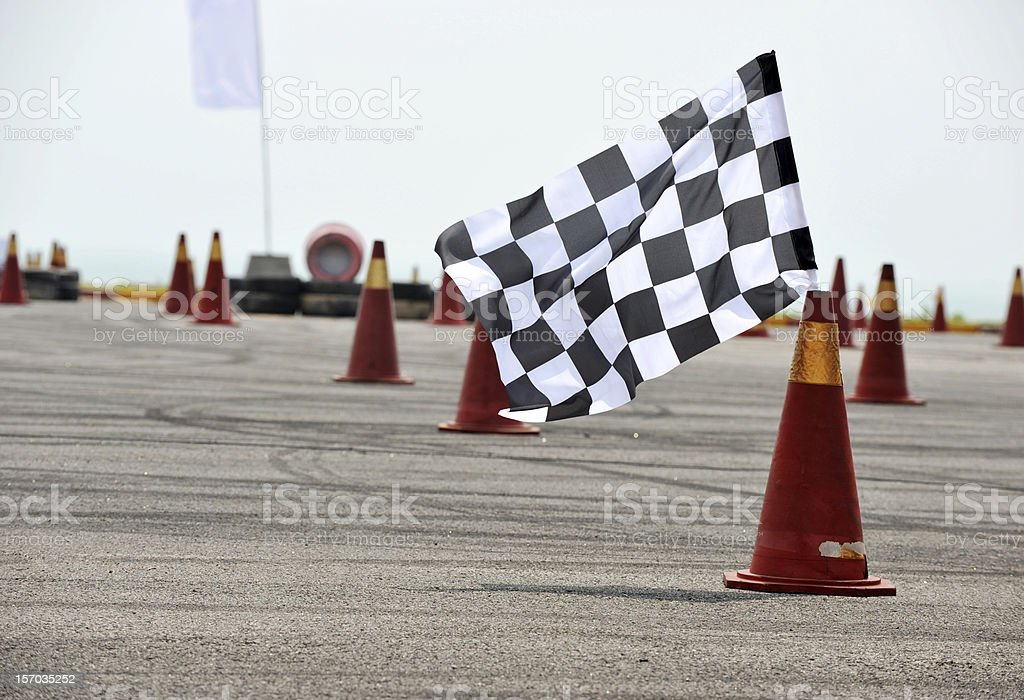 checkered racing flag royalty-free stock photo