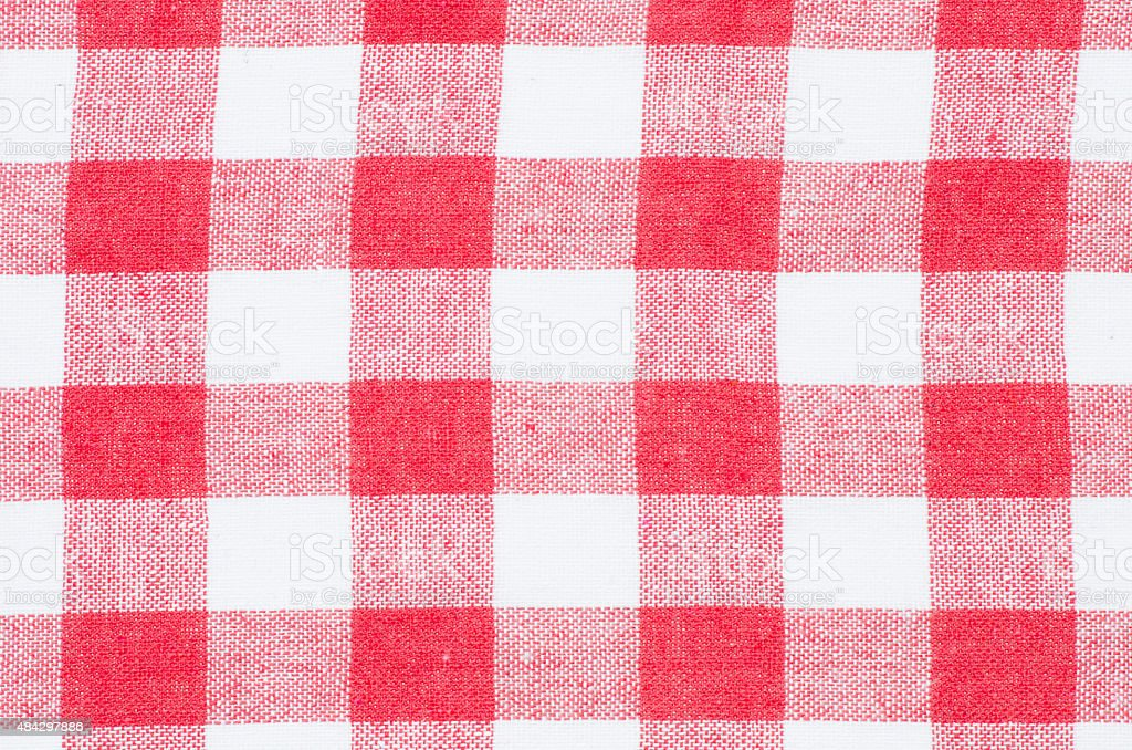 Checkered Red And White Kitchen Towel Background Royalty Free Stock Photo