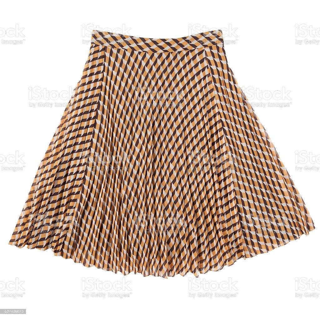 checkered skirt stock photo