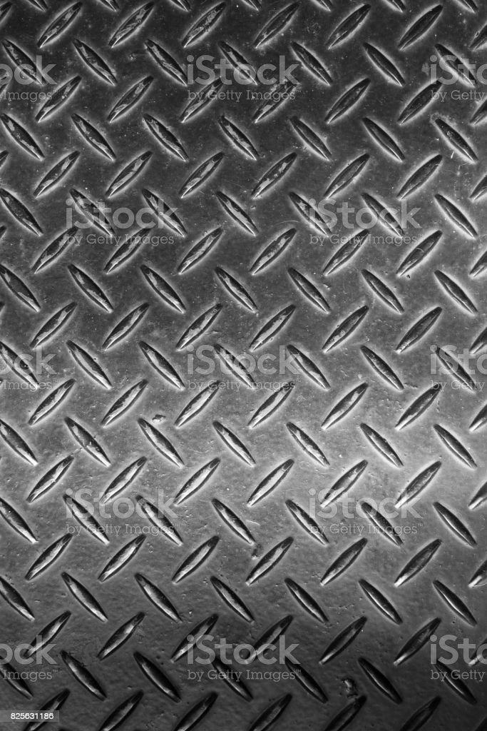 Checkered steel plate stock photo