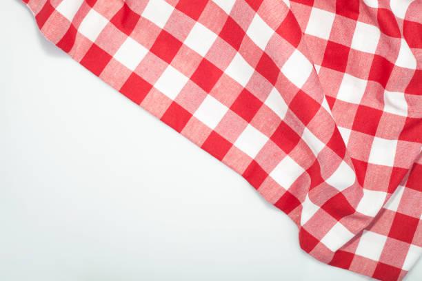 checkered tablecloth backgrounds - tovaglia foto e immagini stock