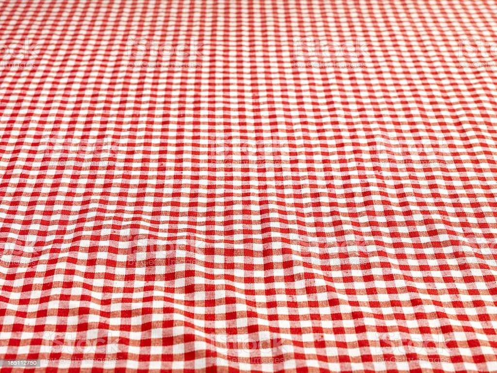 Checkered Tablecloth (Click for more) royalty-free stock photo