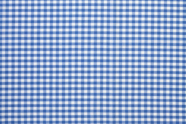 checkered tablecloth Blue and white checked tablecloth plaid stock pictures, royalty-free photos & images
