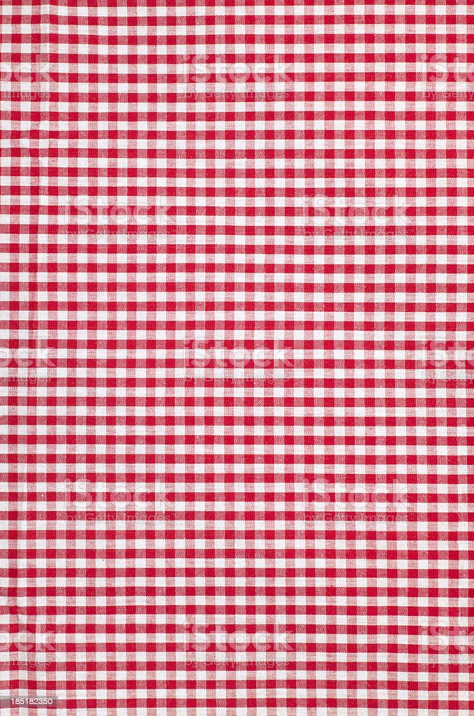 checkered tablecloth texture background stock photo