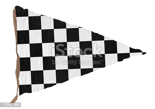 istock Checkered Triangle Pennant (XXL) 172407897