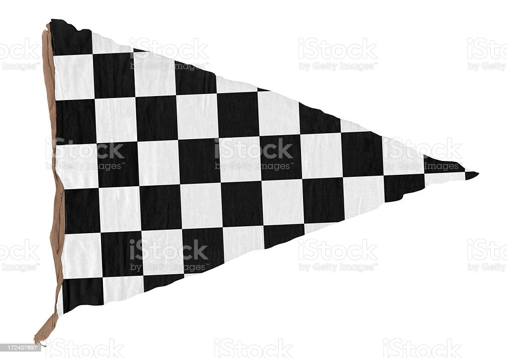 Pendón (XXL) ajedrezada Triangle - foto de stock