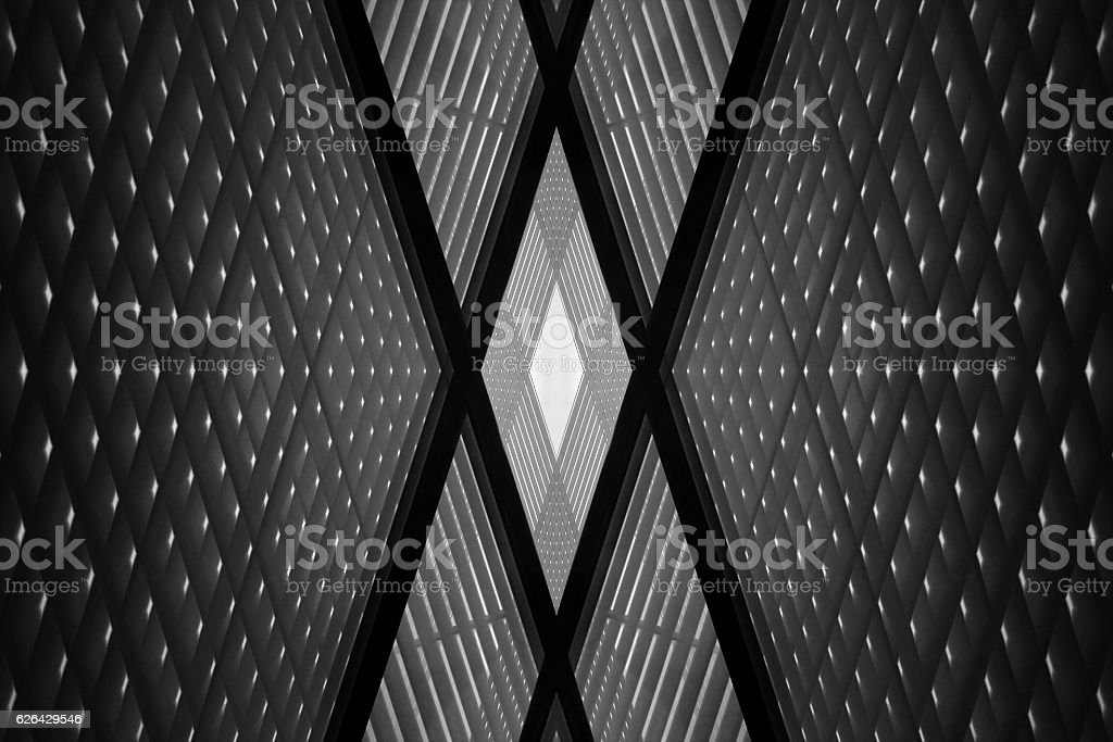 Checkered wall or ceiling. Digitally rendered industrial building fragment stock photo
