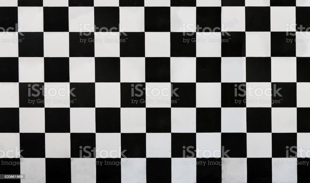 Checkered wall stock photo