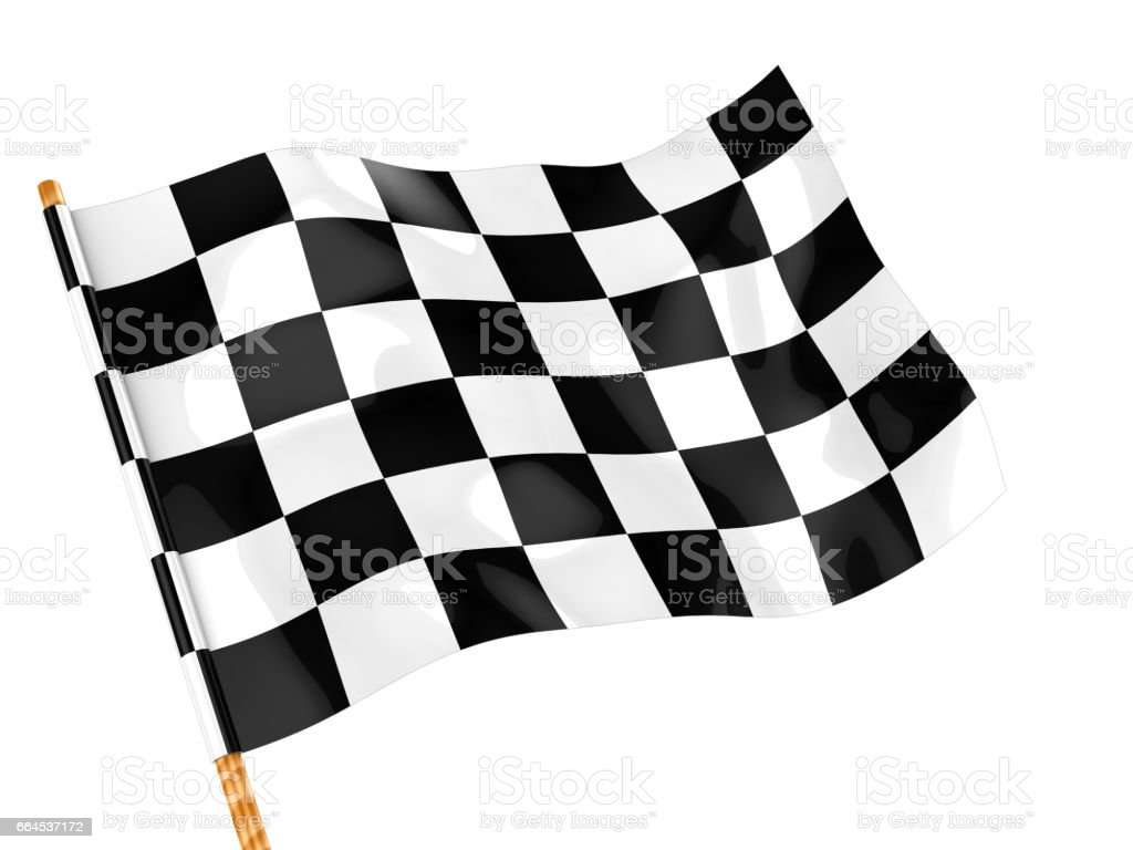 checkers flag stock photo