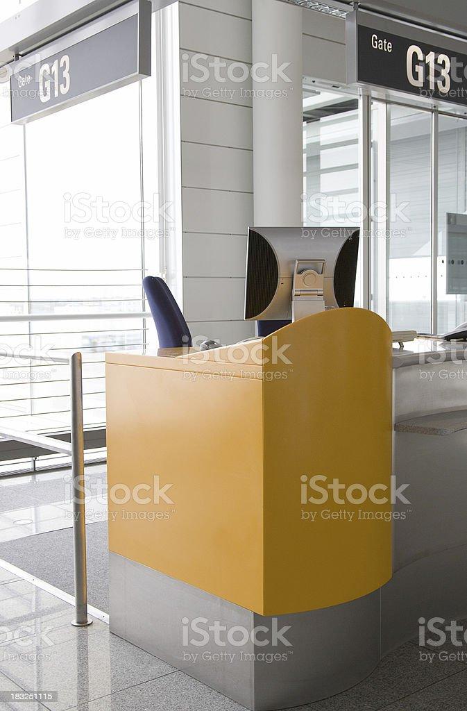 Check-in desk royalty-free stock photo