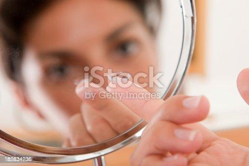istock Checking a Contact Lens in the Eye (XXXL) 182834236