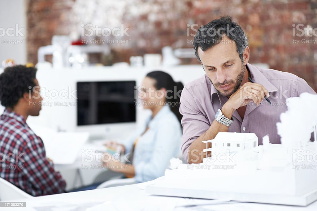 Checking all the details royalty-free stock photo