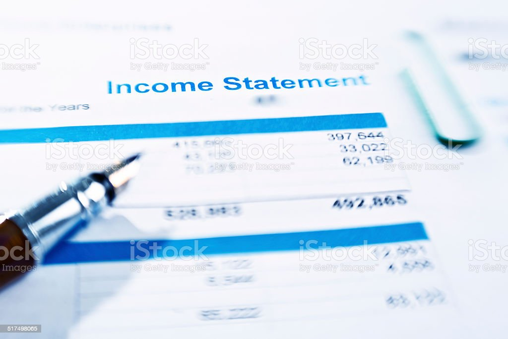 Checking an Income Statement stock photo