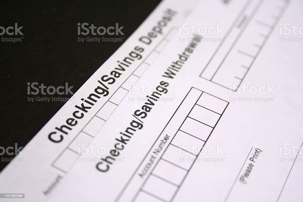Checking and Saving royalty-free stock photo