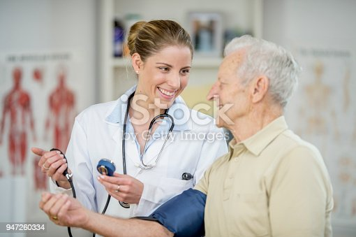 istock Checking Blood Pressure 947260334