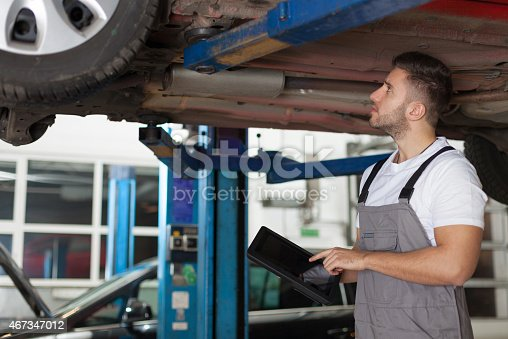 1137474295 istock photo Checking car chassis 467347012