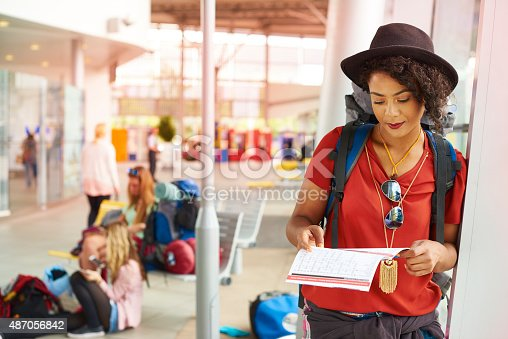487056916 istock photo Checking departure times 487056842