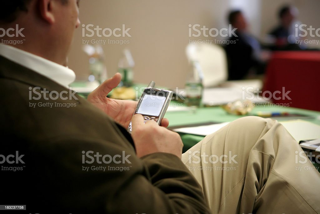 Checking email royalty-free stock photo